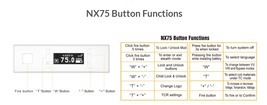 Aspire NX 75 Mod